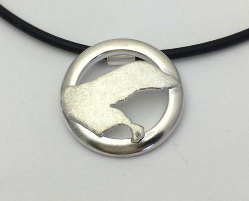 Borkum Insel Anhänger Kette Schmuck Silber