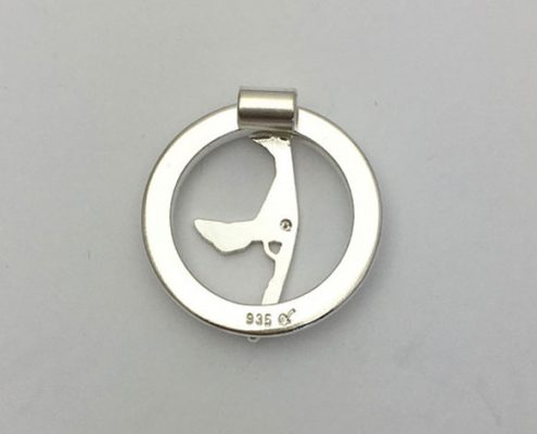 Sylt Insel Anhänger Kette Schmuck Silber Brillianten
