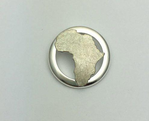 Afrika Insel Anhänger Kette Schmuck