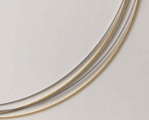 Stahlseil 5-Reihig in Gold Silber