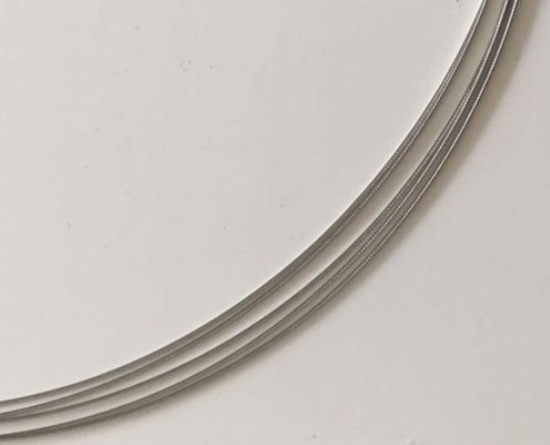 Stahlseil 5-Reihig in Silber